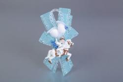 Nikahseker Junge auf Pferd Blaue Schleife
