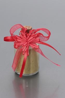 Nikahseker Glas mit Rote Schleife