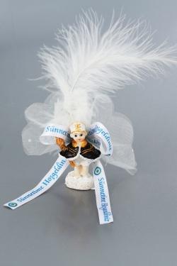 Nikahseker Sünnetcocugu Figur mit Feder tüll und Schleife