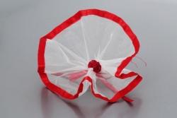 Nikahseker Tüll mit roten Seidenband und Rosen