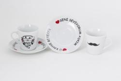 2er Set Tasse und Untertasse