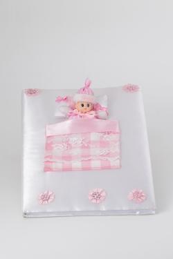 Gästebuch Mädchen Weiß mit Puppe