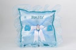 Kissen aus Blauen Seide für Geburtsgeschenke Junge