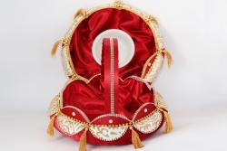 Korb und Tablett für Henna in rot mit Goldenen Details für Henna und Gastgeschenke