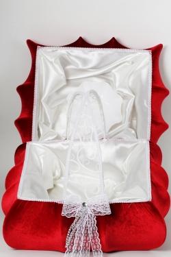 Korb und Hennatablett set rot-weiß
