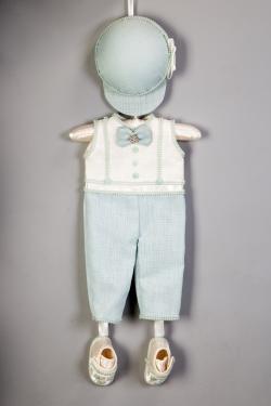 Türschmuck Hose mit Mütze und Schuhe für Geburt Junge