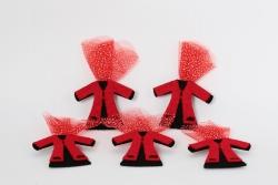 Kina Filzkaftan in rot-schwarz